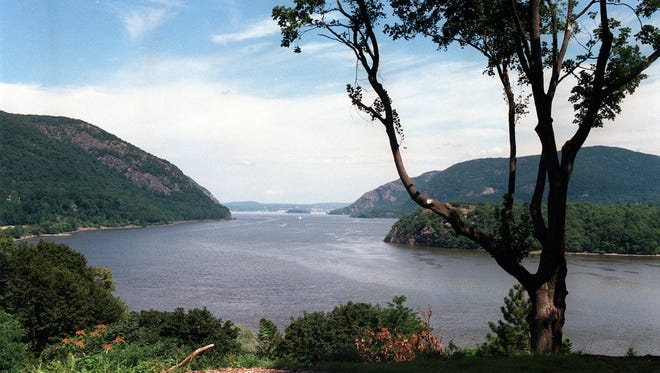 The Hudson River, as seen from West Point's Trophy Point.