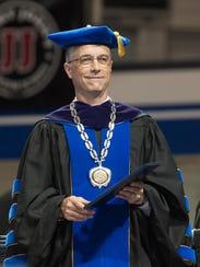 Drake University President Marty Martin during the