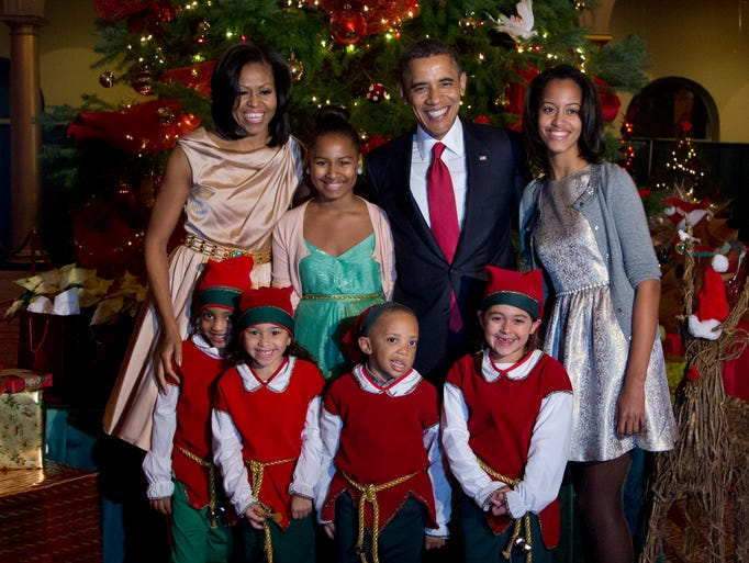 The First Family, at the 2012 Christmas at Washinton