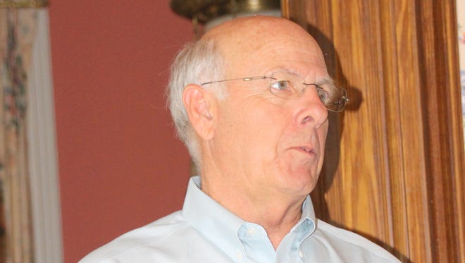 Congressman Steve Pearce talks to his constituents during at a meet-and-greet in Silver City.