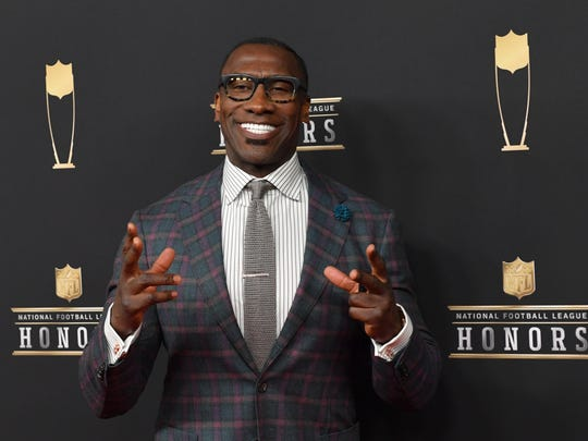 Feb 2, 2019; Atlanta, GA, USA; Shannon Sharpe during red carpet arrivals for the NFL Honors show at the Fox Theatre. Mandatory Credit: Dale Zanine-USA TODAY Sports