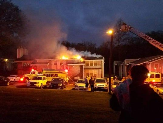 Walker Springs apartment fire