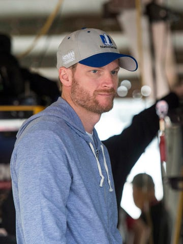 Dale Earnhardt Jr during practice for the Citizen Soldier