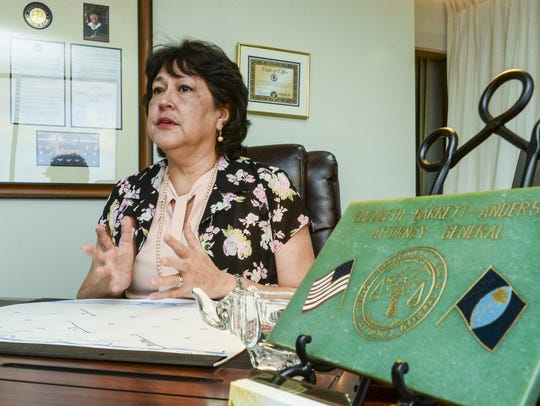 Guam Attorney General Elizabeth Barrett-Anderson speaks