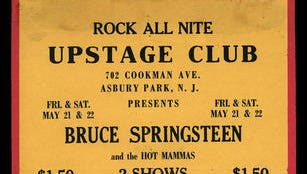 A 1971 flier from Asbury Park's Upstage Club advertises Bruce Springsteen and the Hot Mammas.