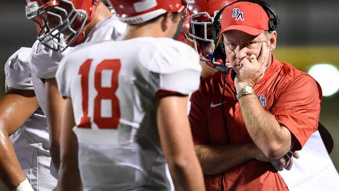 Brentwood Academy coach Cody White led the Eagles to a 10-2 record and a repeat Division II-AA state championship.
