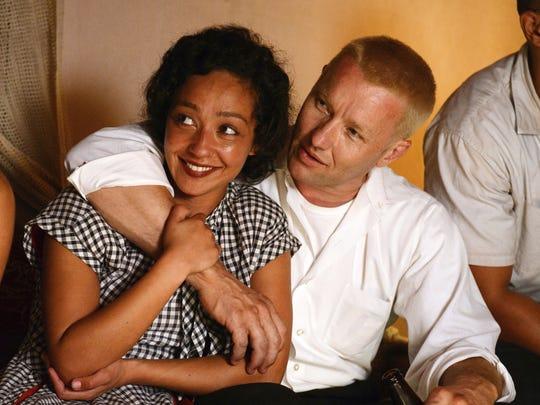 """Ruth Negga, left, and Joel Edgerton in a scene from """"Loving."""""""