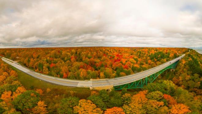A sneak peek at the 360-degree view of the Cut River Bridge in the Upper Peninsula.