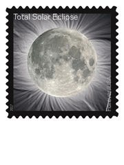 The Total Solar Eclipse Forever stamp, which commemorates