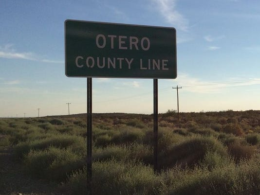 Otero County Line Sign