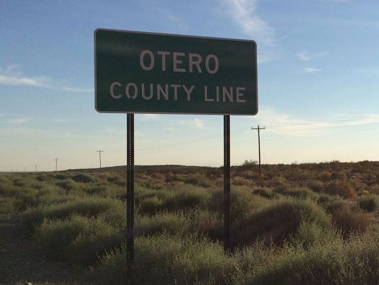 Otero County line sign