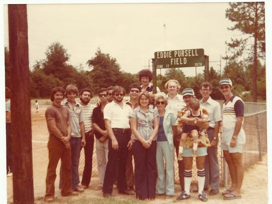 The Eddie Pursell Field at Bill Gregory Park was dedicated in 1978, and many members of the Pursell family attended the ceremony. Eddie Pursell died in 1973.
