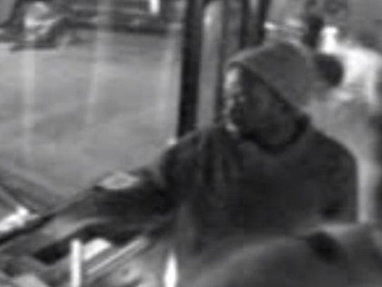Nashville police are searching for a bus rider suspected