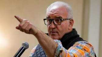 "Former heavyweight contender Gerry Cooney, who fought all the great heavyweights of his day and was nicknamed ""The Great White Hope'' by Don King, speaks at the monthly breakfast of the Jersey Shore Sports Alumni association at The Renaissance in Ocean Twp., NJ Tuesday March 21, 2017."
