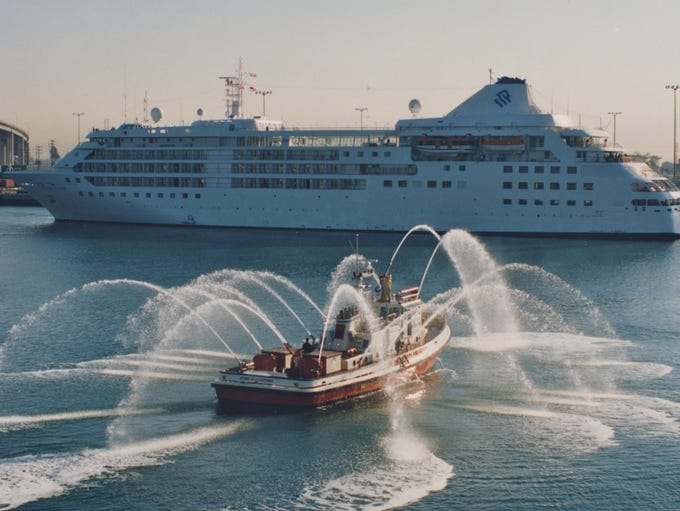 The oldest and smallest vessel in luxury cruise line