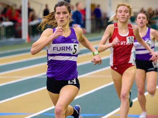 Furman University freshman Krissy Gear, a Fort Myers High graduate, was the Southern Conference Indoor Track Female Freshman of the Year this season. In outdoor, she qualified for the NCAA Championships next week in Oregon in the 3,000-meter steeplechase.