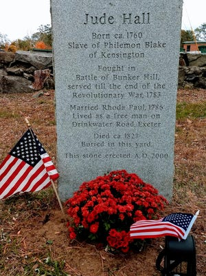 The gravesite of Jude Hall, a Black man who earned his freedom by fighting in the Revolutionary War.