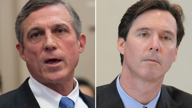 Gov. John Carney and state Treasurer Ken Simpler are backing a proposal to limit state spending growth and use the extra revenue to fill future budget holes.