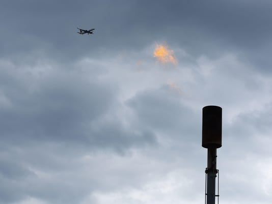 Methane flare in the Meadowlands