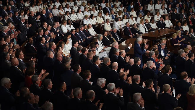 Democratic women in Congress wore white to President Trump's State of the Union address in 2019 to recognize suffrage.