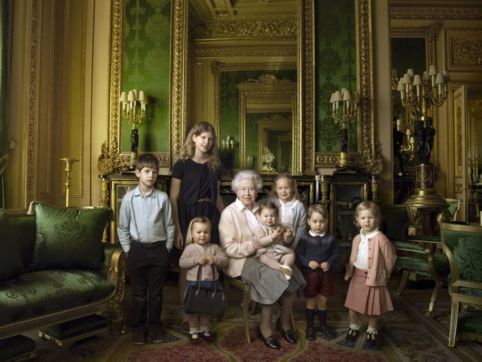 This official photograph, released by Buckingham Palace