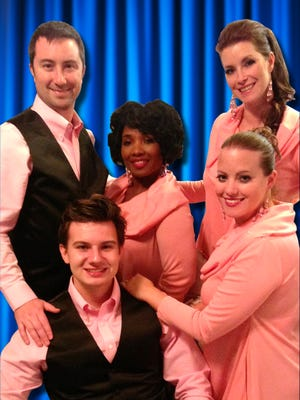 "Theatre-Go-Round's professional ensemble celebrate with ""Let the Good Times Roll."" From left are Gregory Harris, Brendan Wenger, Shamara Turner, Caitlin Harris and Beth McKenzie-Shestak."