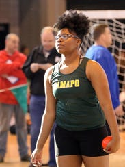 Shiana Galette from Ramapo High School after the shot
