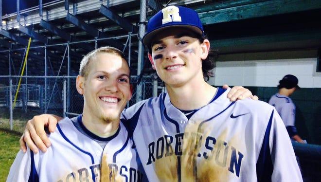 Roberson's Josh McNair, left, and Garrett Blaylock.