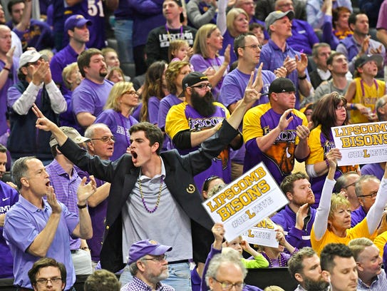 The fans came to cheer as Lipscomb plays North Carolina