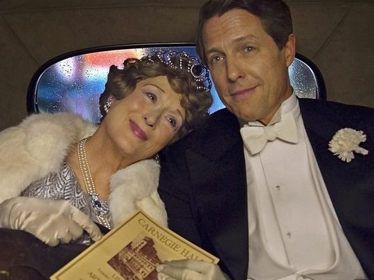 """Meryl Streep as Florence Foster Jenkins and Hugh Grant as St Clair Bayfield in """"Florence Foster Jenkins."""""""