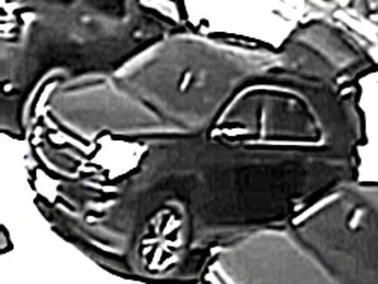 An surveillance image of the suspect's vehicle, provided