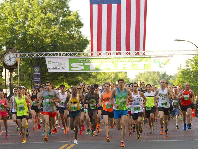 The start of the 39th Reedy River Run in downtown Greenville,