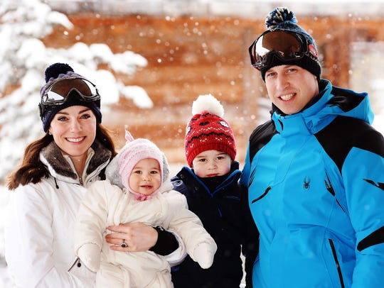 Will and Kate and Charlotte and George during their