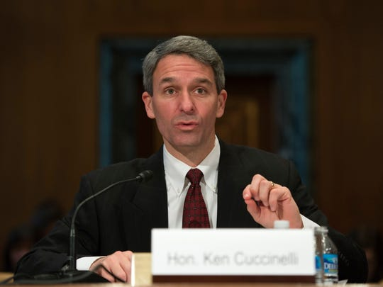 Former Virginia Attorney General Ken Cuccinelli is acting director of U.S. Citizenship and Immigration Services