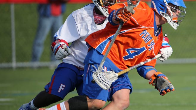 Austin Fingar scored four goals in Penn Yan's 17-6 victory over Akron.