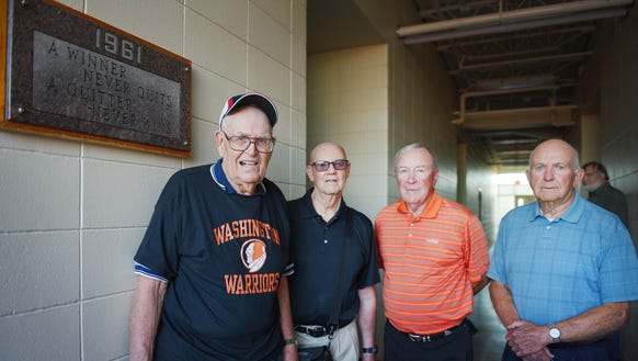 Dick Day, from left, Dennis Thompson, Jim Luce and