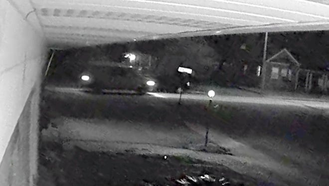 In this photo provided by the Hanover Borough Police Department, a van is seen in a screenshot from a video captured by a surveillance camera. The van is suspected to be involved in a hit-and-run that killed 4-year-old Dakota Wright on Nov. 22, 2016.