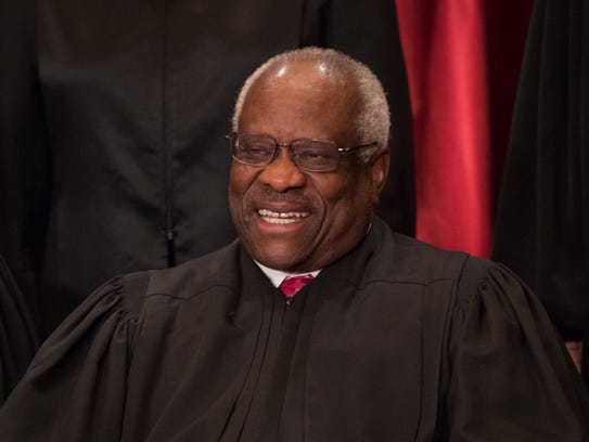 Supreme Court Justice Clarence Thomas in 2017.