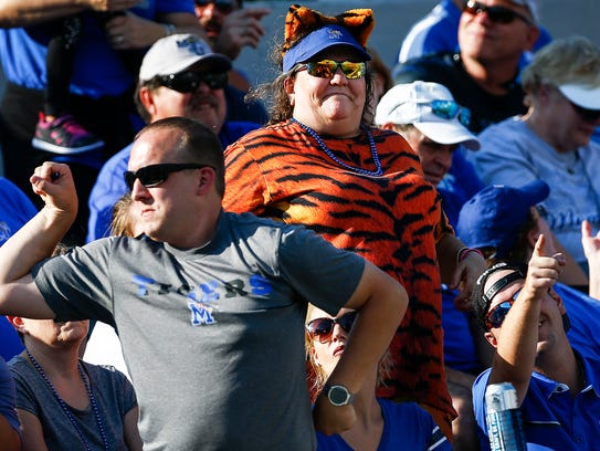 University of Memphis fans during action against Navy