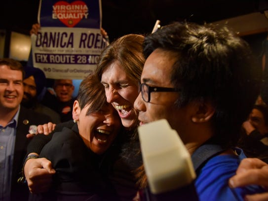 Danica Roem celebrates her election to the Virginia