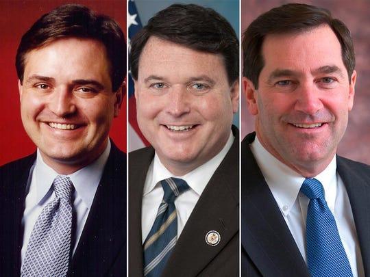 From left: Congressman Luke Messer, Congressman Todd Rokita and Sen. Joe Donnelly.