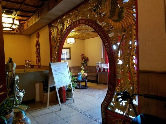 The entryway of the Golden Phoenix Chinese restaurant.