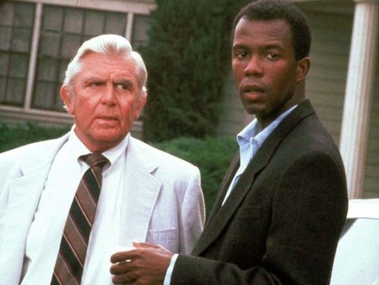 Clarence Gilyard Jr and Andy Griffith in an episode