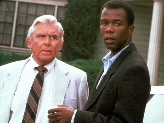 Clarence Gilyard Jr and Andy Griffith in an episode of Matlock