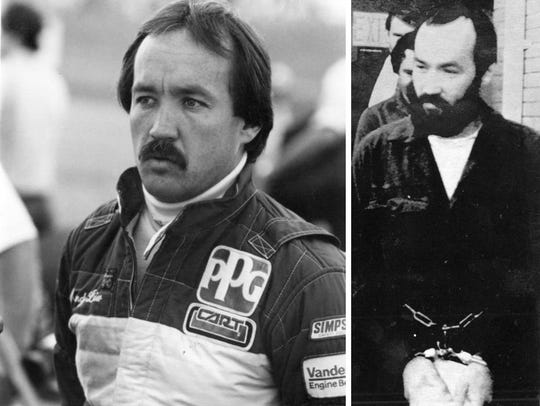 Left: Randy Lanier as Indy 500 Rookie of the Year in