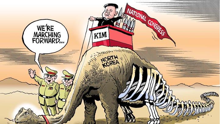 Paresh Nath, The Khaleej Times, UAE, drew this editorial cartoon.