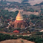 Photos: Myanmar bird's-eye view of Buddhist temples by balloon