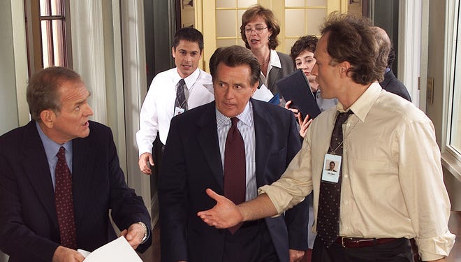 A scene from 'The West Wing.'