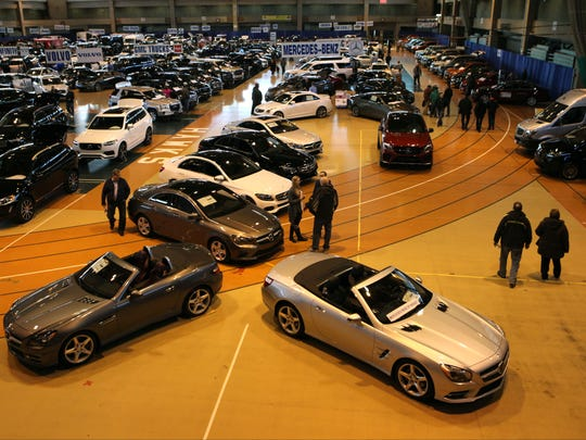 Attendees browse the Mercedes Benz of Nanuet area at