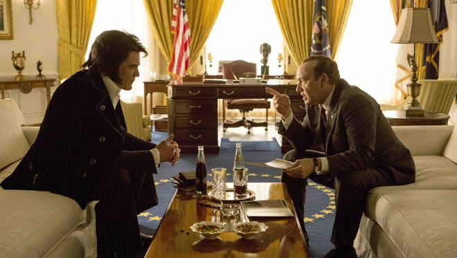 """Michael Shannon, left, and Kevin Spacey star in """"Elvis & Nixon."""" The movie is playing at Small Star Art House."""